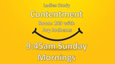 Contentment Ladies Bible study